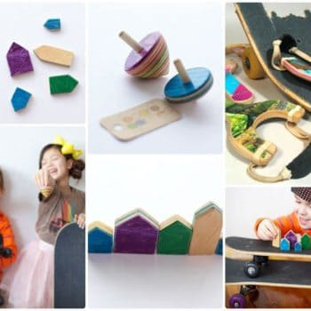 Board Games: old skateboard deck toys