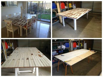 Table Made From Old Picket Fence