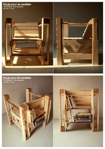 Pallets & Bookcases Chair