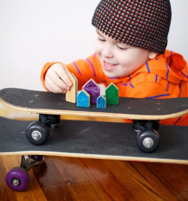 Board Games: old skateboard deck toys Recycled Sports Equipment Wood & Organic