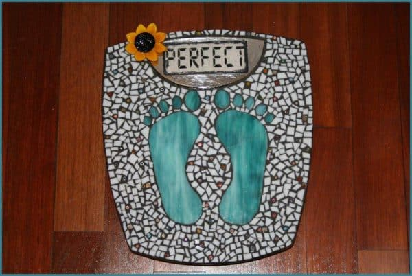 Perfect Mosaic Scale Recycled Art Recycled Glass