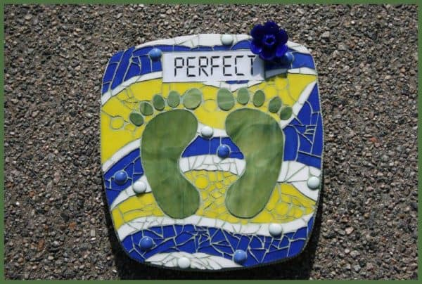 Perfect Scale in art glass  with Recycled Art recycle mosaic Glass