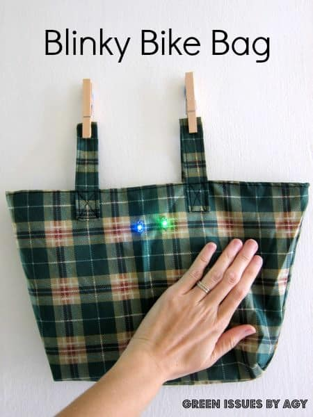 Umbrella Upcycled to Blinky Bike Bag in diy accessories  with umbrella sewing Electronics & E Waste Bike