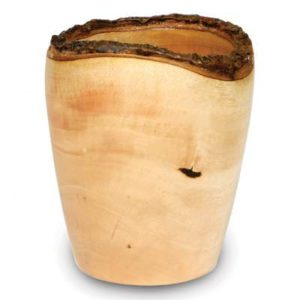 Mango-Wood-Utensil-Vase-with-Bark-Rim-0