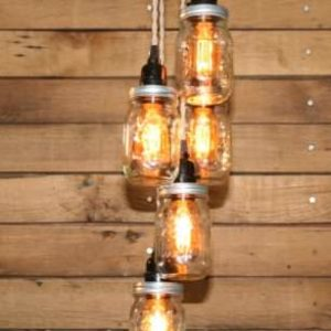 Mason-Jar-Chandelier-5-Clear-Pint-Ball-Jars-Ball-Jar-Chandelier-Ceiling-Light-Fixture-hand-crafted-by-Industrial-Rewind-0