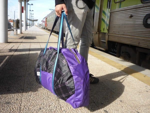 Umbrella upcycled into travel bag in accessories  with umbrella Reused Recycled fashion Bags
