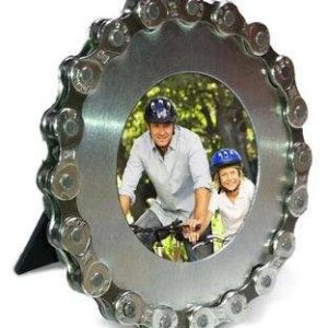 Recycled-Bike-Chain-Silver-Personal-desk-frame-by-Resource-Revival-2x2-0