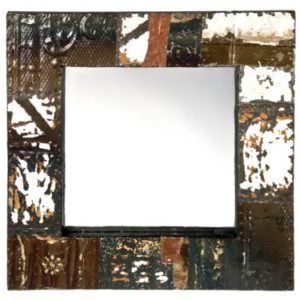 Rustic-Recycled-Tin-Ceiling-Tile-Mirror-0