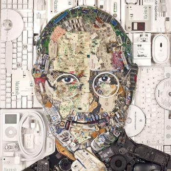 Steve Jobs Portrait from E-Waste