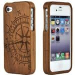 SunSmartTM-Unique-Handmade-Natural-Wood-Wooden-Hard-bamboo-Case-Cover-for-iPhone-4-4sWalnut-Compass-0