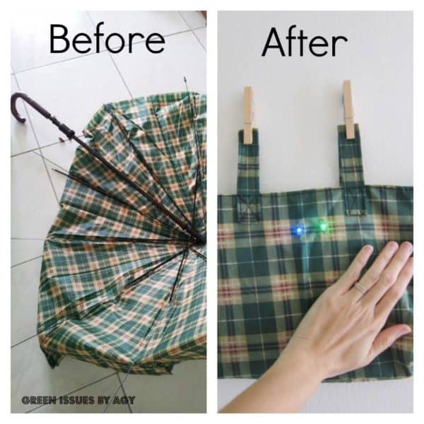 Umbrella Upcycled to Blinky Bike Bag Accessories Do-It-Yourself Ideas