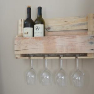 Upcycled-Wooden-Wine-Rack-with-Glass-Holders-0