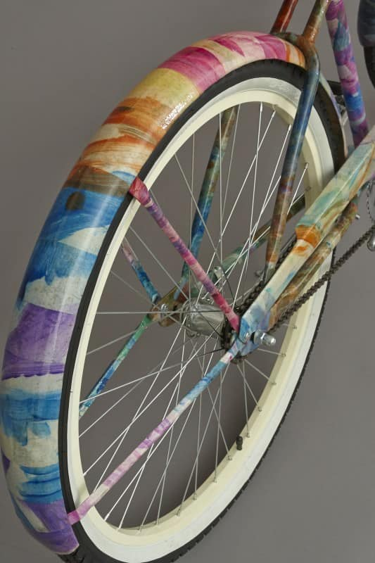 Recycled Kid Art bike in art bike friends  with Upcycled Recycled Art Recycled Paper & Books Bike