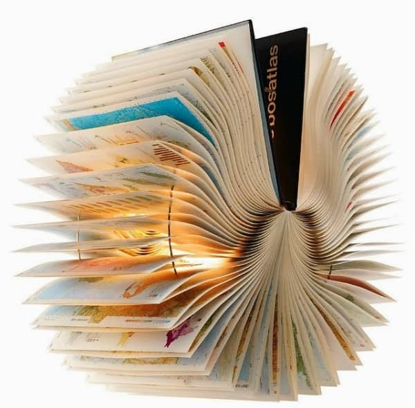 Sculptural Book Lamps by BomdesignNL in paper lights  with Recycled Lamp discarded Books