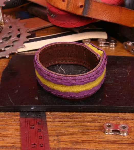 Bracelets From Colorful Upcycled Bicycle Tires Accessories Bike & Friends