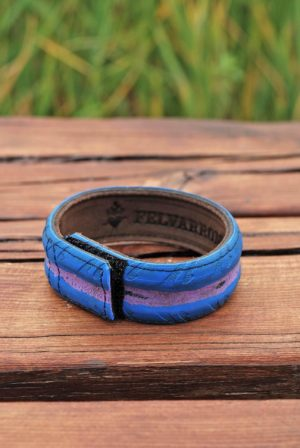 Bracelets from colorful bicycle tires