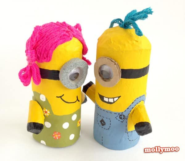 DIY: Make minions with toilet paper rolls in diy  with tutorial Toilet Paper Roll Minion kids DIY Craft