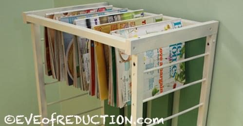 Small Crib Gets Upcycled into a Shelf Unit Recycled Furniture