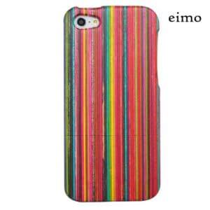 eimolife-TM-Unique-Handmade-Natural-Wood-Wooden-Hard-bamboo-Case-Cover-for-iPhone-5-with-free-screen-protectorcolorful-stripe-0