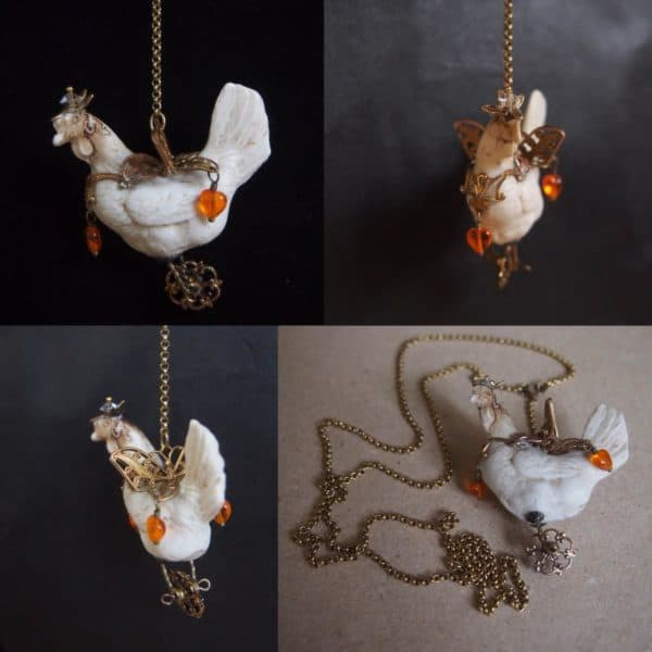 Old Porcelain jewelry in jewelry  with Recycled Art Jewelry Handmade