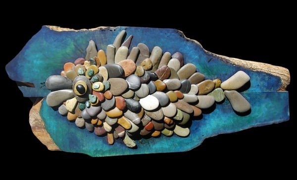 Pebble Art Recycled Art