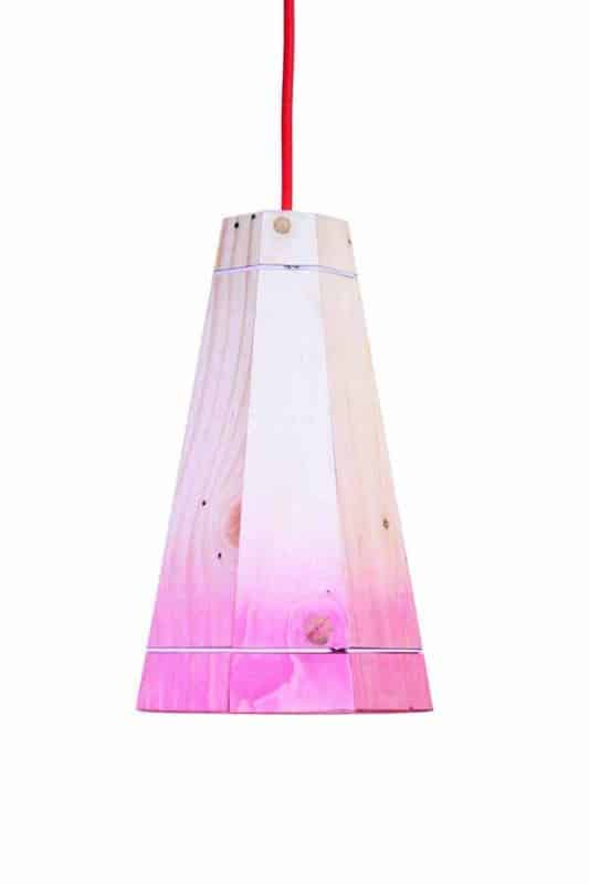 Pallet Pendant Lamp shade in pallets 2 lights  with Recycled pendant Pallets Light Lamp