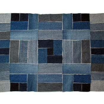Denim patchwork rug