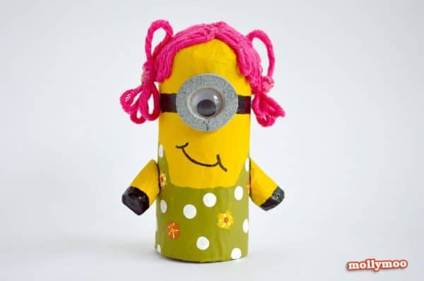 DIY: Make minions with toilet paper rolls in diy  with tutorial Toilet Paper Roll kids DIY Craft
