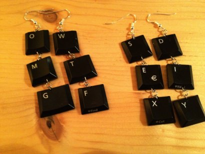 Keyboard earrings