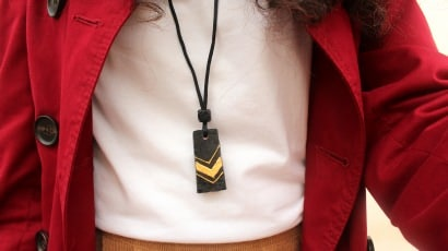 DIY: Recycled Wine Cork Necklace