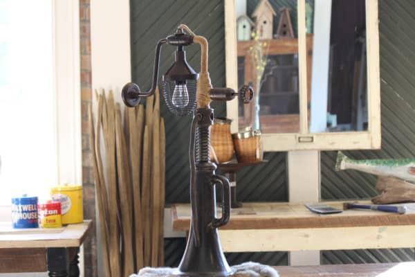 House Jack Hand Drill Lamp in lights  with Metal Lamp Industrial