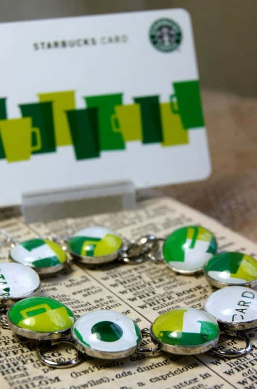 Upcycled Starbucks Gift Card Jewelry Upcycled Jewelry Ideas