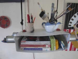 Toilet Cistern Book Shelf