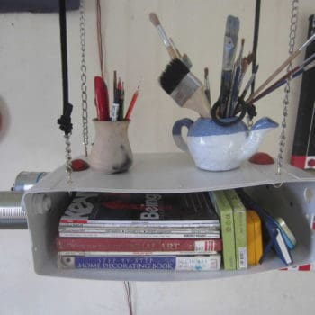 Toilet Cistern Book Shelf