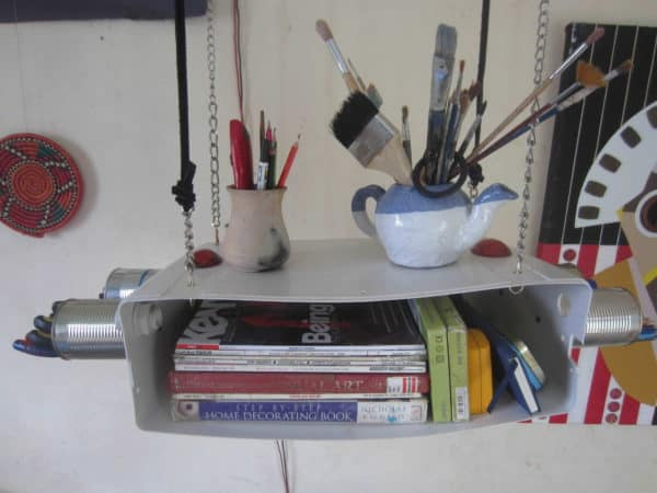 Toilet Cistern Book Shelf in furniture  with Tin Shelf Bookshelf