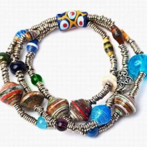 Fair-Tade-Giriama-Goddess-3-Strand-Stretch-Bracelet-Necklace-Also-Available-0