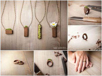 Eco-Friendly Moss & Grass Jewelry