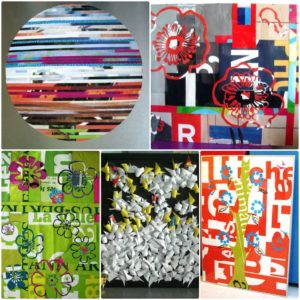Recycled PVC sheets Collages