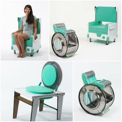DIY: Washing machine chairs