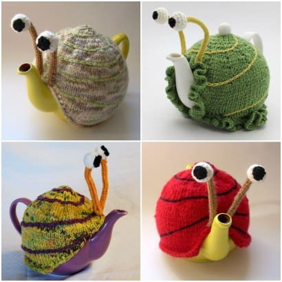 Snail teapot cosy patterns