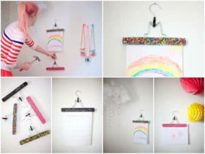 DIY: Hangers as art display