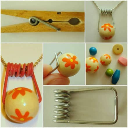 DIY: Necklace from an old clothespin