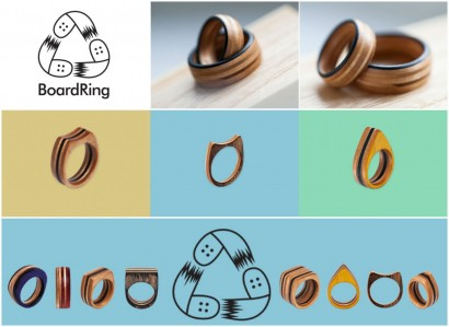 BoardRing – goods from recycled skateboards!