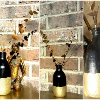 Blaah to glam - Reincarnation of a glass bottle