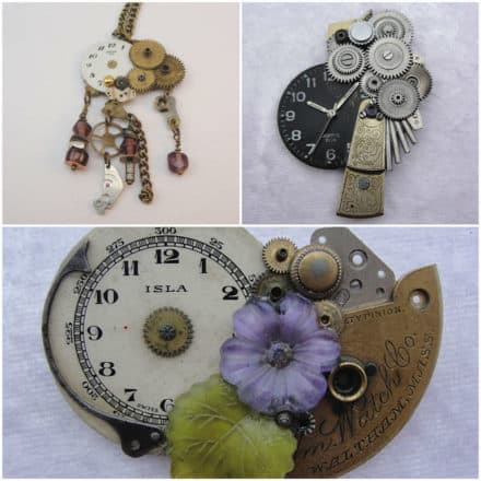 Jewelry made from old watches
