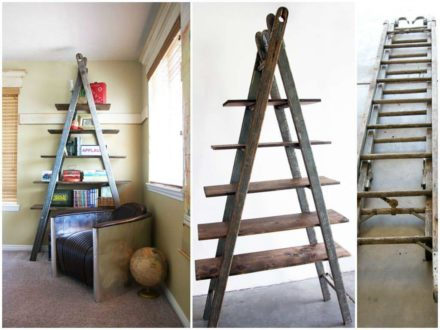 DIY Bookshelf Ladder