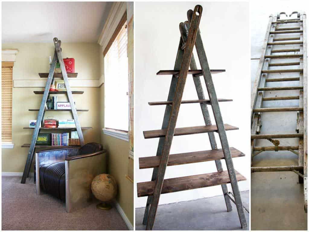 Diy Bookshelf Ladder • Recycled Ideas • Recyclart