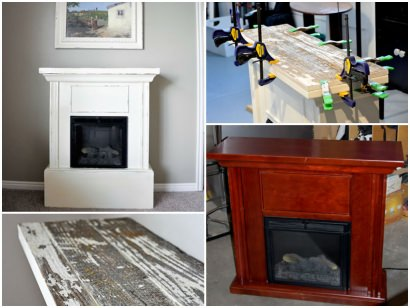 Electric Fireplace Makeover