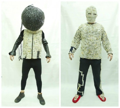 7,000 Recycled Keyboard Keys Costumes