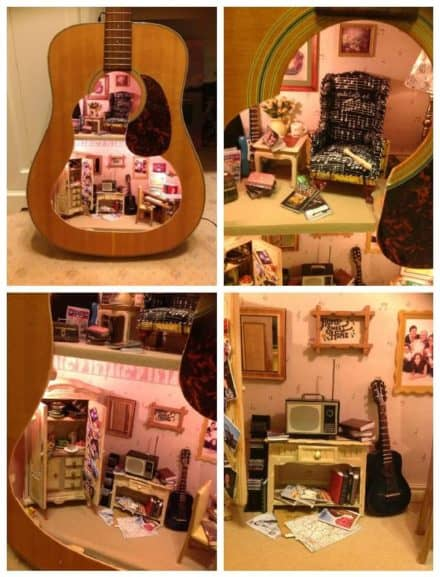 Upcycled Guitar Into Doll House